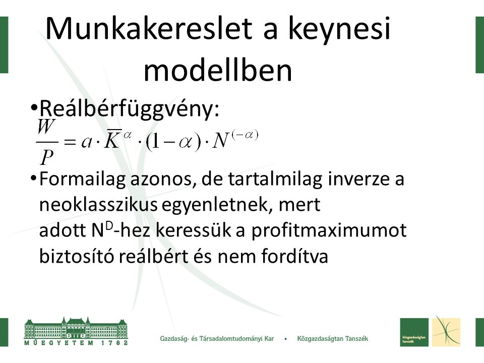 Munkakereslet a keynesi modellben