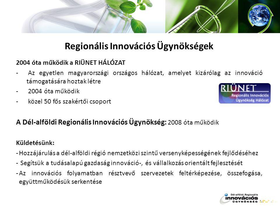 Regionális Innovációs Ügynökségek