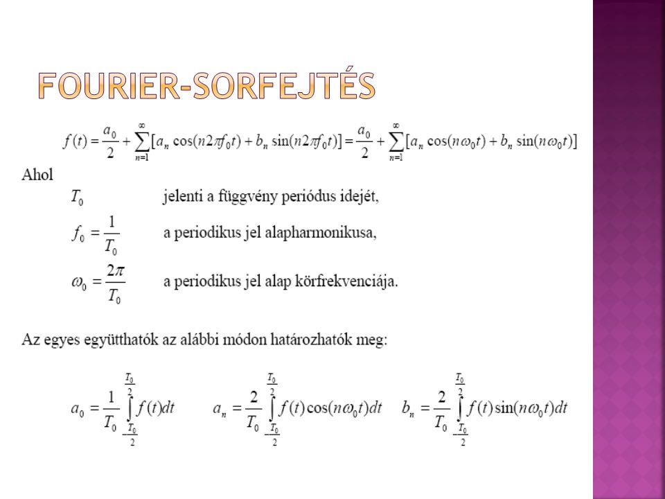 Fourier-sorfejtés