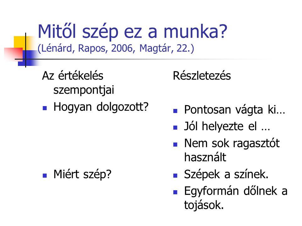 Mitől szép ez a munka (Lénárd, Rapos, 2006, Magtár, 22.)