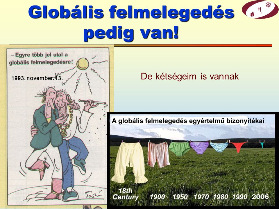 Globális felmelegedés pedig van!