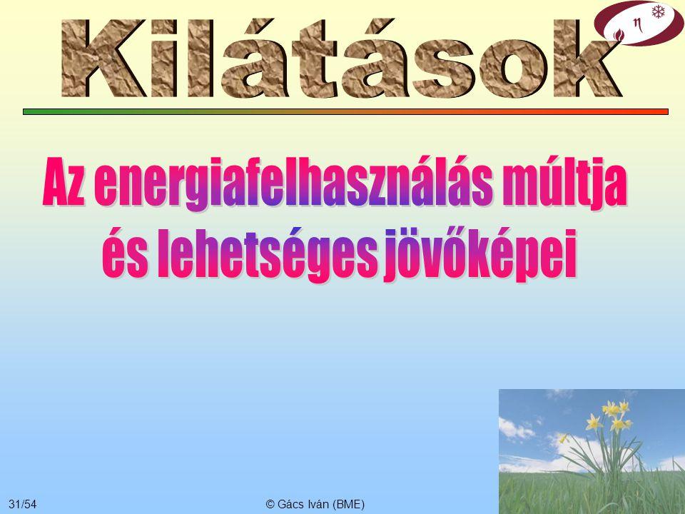 Kilátások Az energiafelhasználás múltja és lehetséges jövőképei
