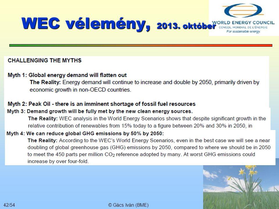 WEC vélemény, 2013. október