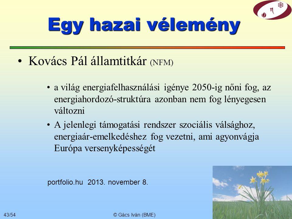 Egy hazai vélemény Kovács Pál államtitkár (NFM)
