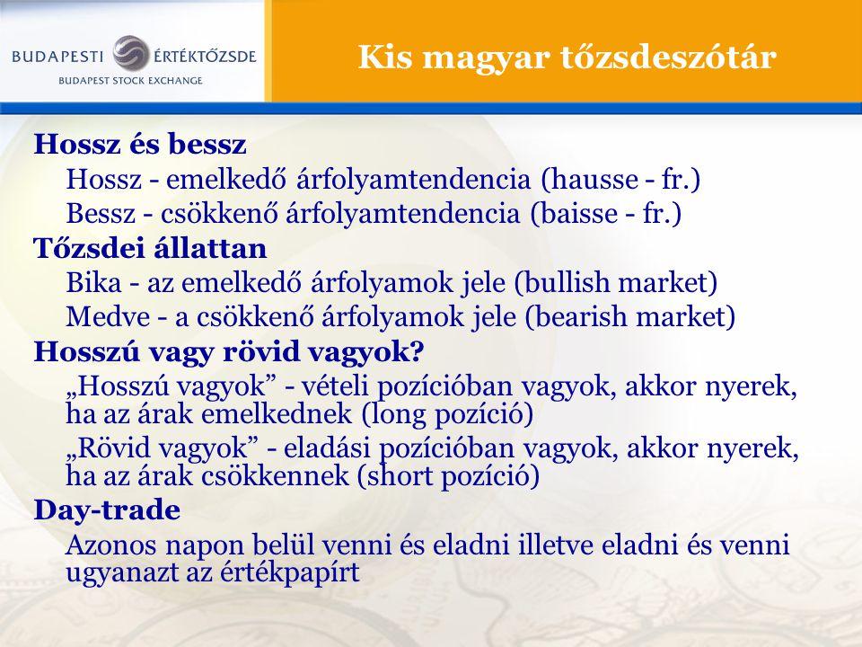 Kis magyar tőzsdeszótár