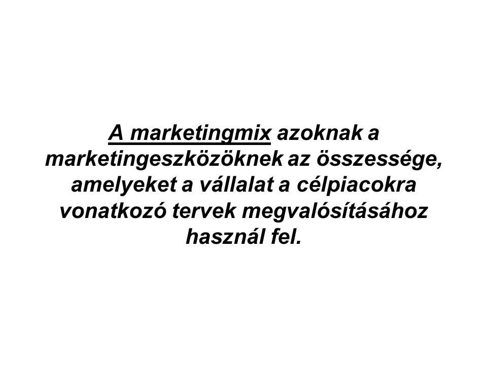 A marketingmix azoknak a marketingeszközöknek az összessége, amelyeket a vállalat a célpiacokra vonatkozó tervek megvalósításához használ fel.