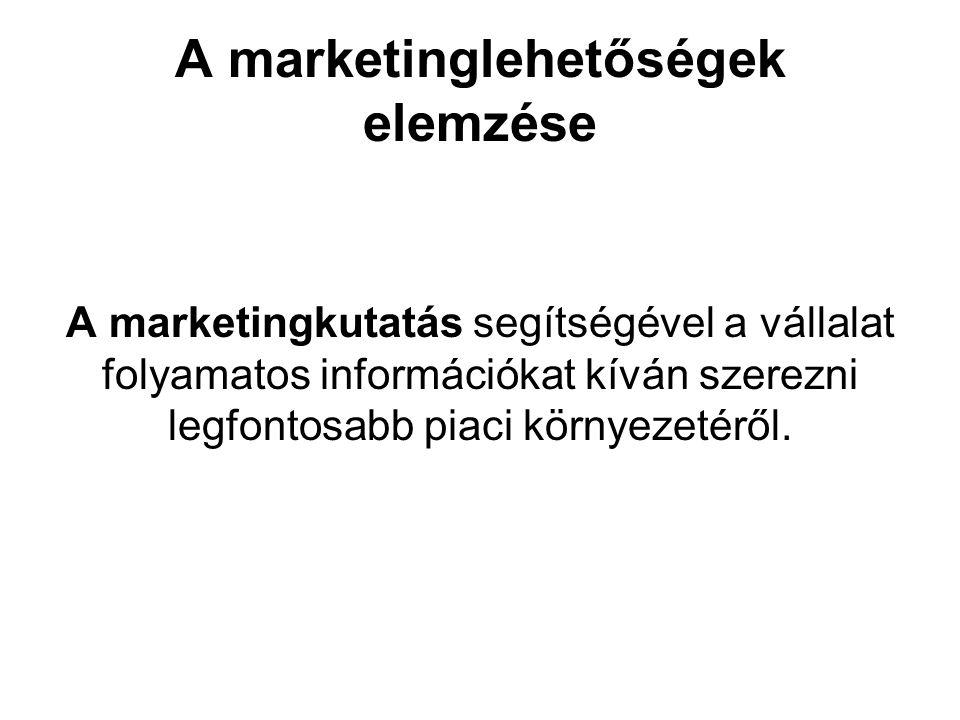 A marketinglehetőségek elemzése