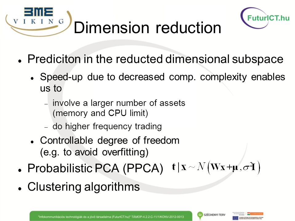 Dimension reduction Prediciton in the reducted dimensional subspace