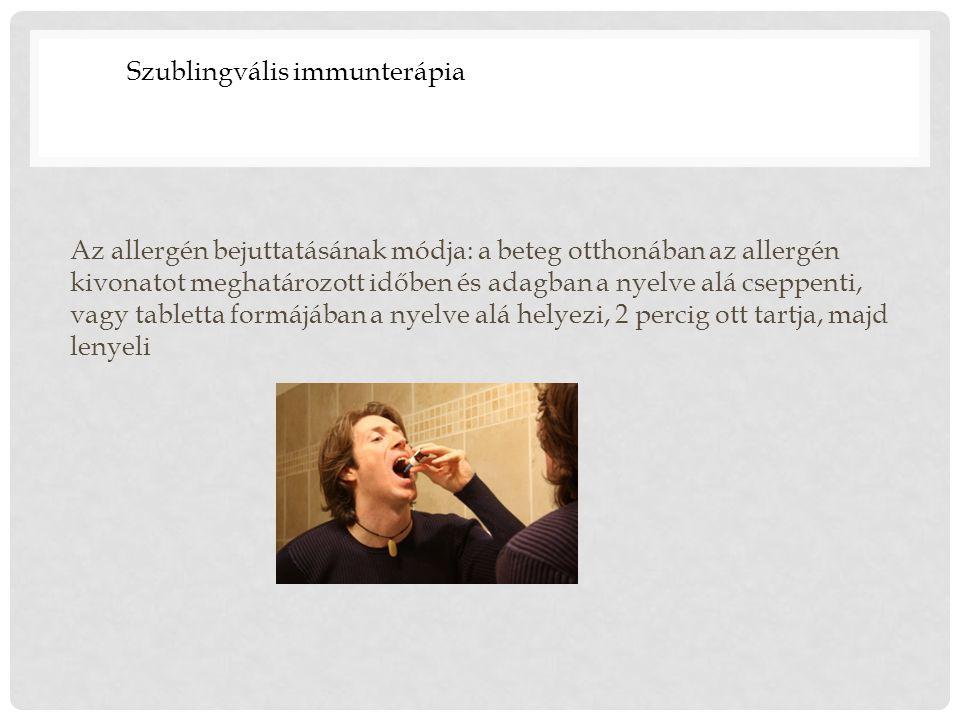 Szublingvális immunterápia