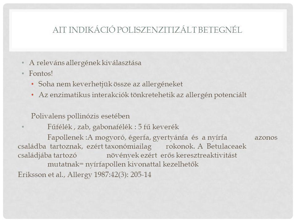 AIT indikáció poliszenzitizált betegnél