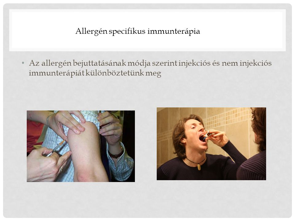 Allergén specifikus immunterápia