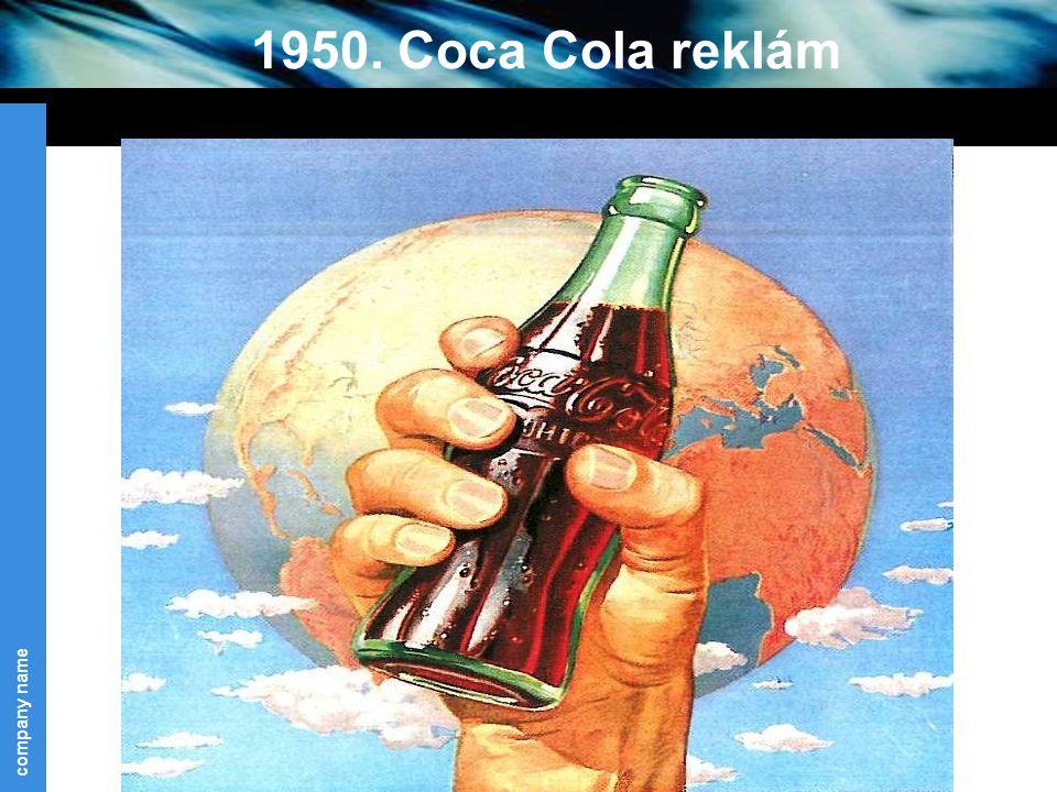 1950. Coca Cola reklám