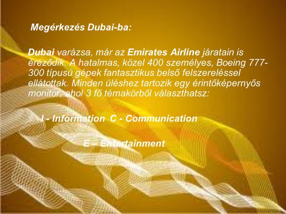 Megérkezés Dubai-ba: