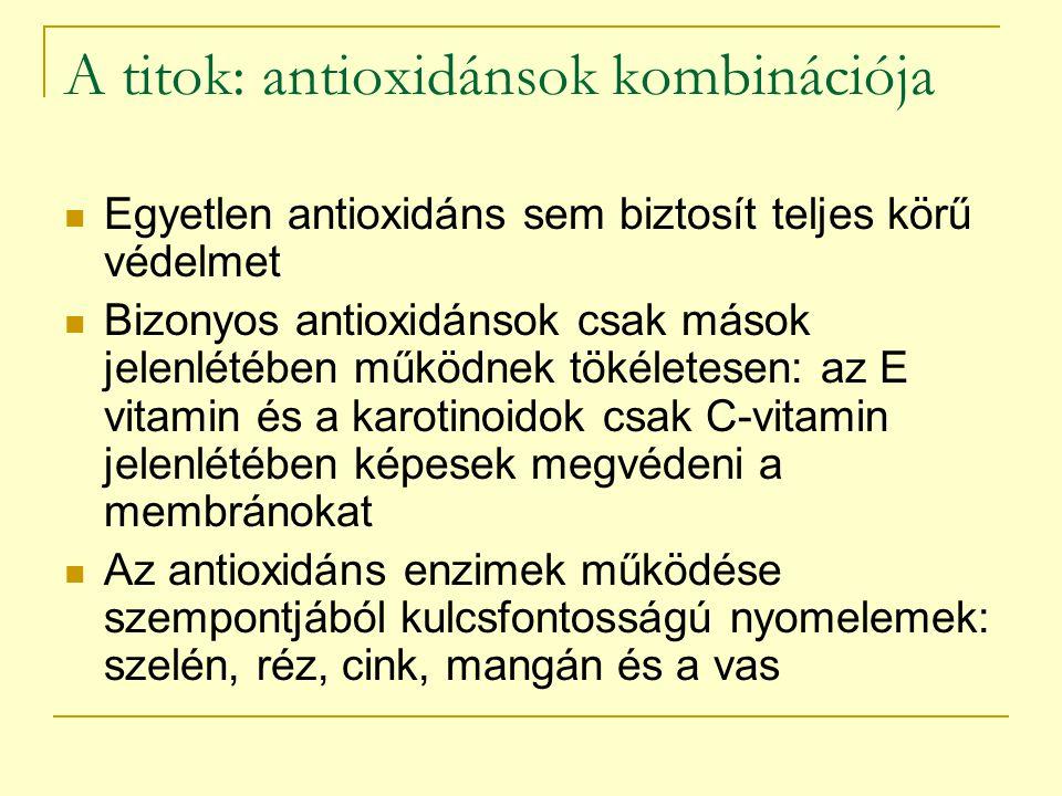 A titok: antioxidánsok kombinációja
