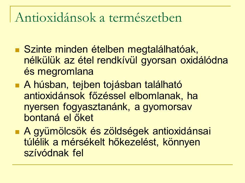 Antioxidánsok a természetben