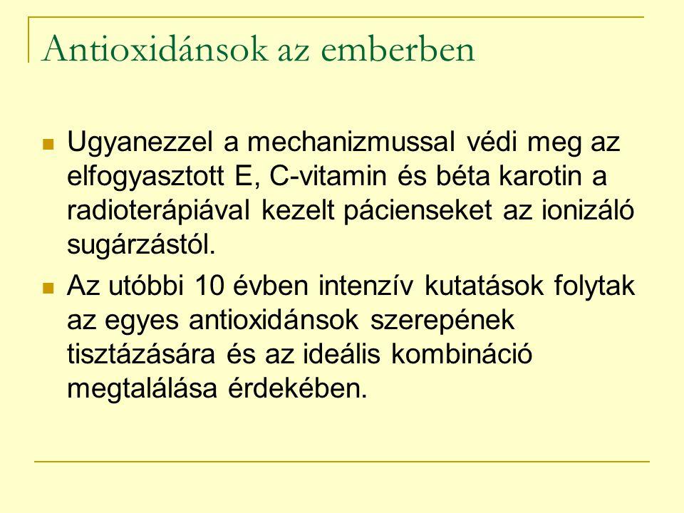 Antioxidánsok az emberben