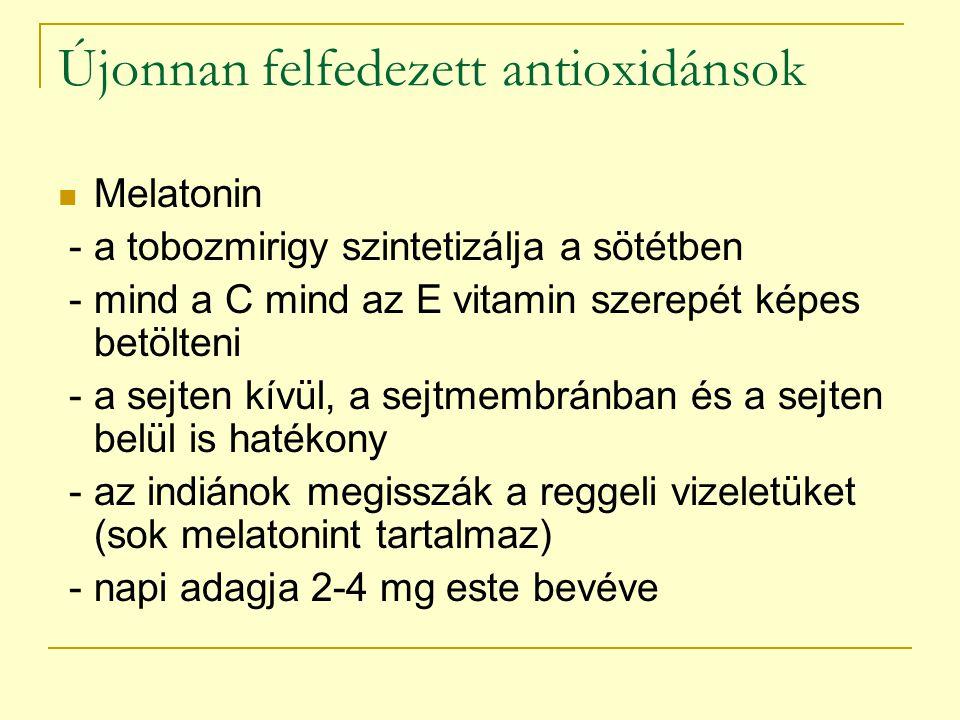 Újonnan felfedezett antioxidánsok