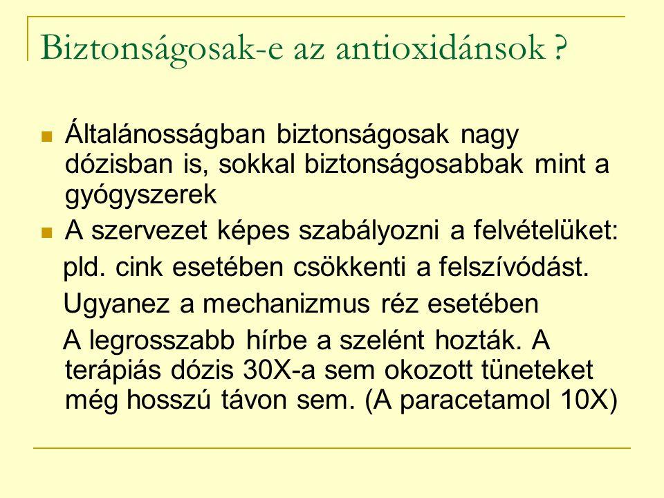 Biztonságosak-e az antioxidánsok