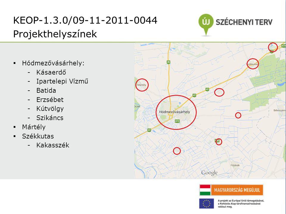 KEOP-1.3.0/09-11-2011-0044 Projekthelyszínek Hódmezővásárhely: