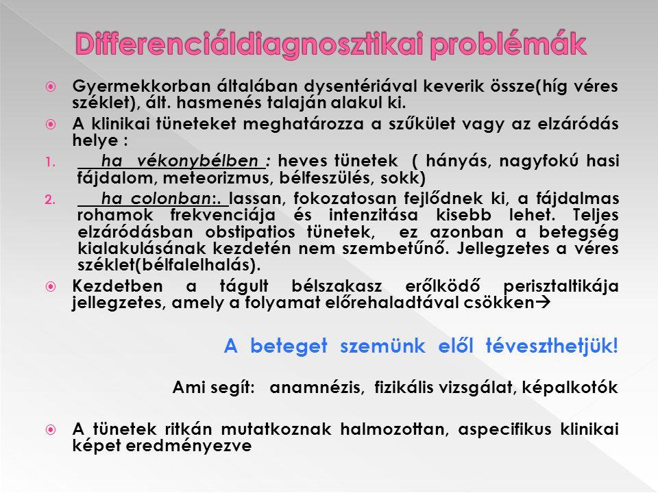 Differenciáldiagnosztikai problémák