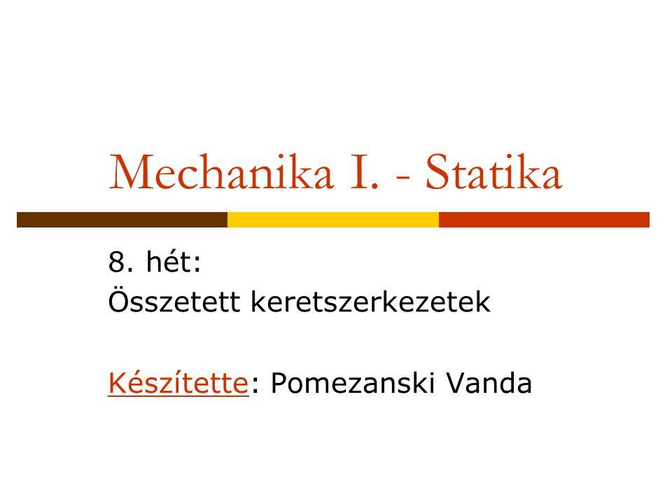 8. hét: Összetett keretszerkezetek Készítette: Pomezanski Vanda
