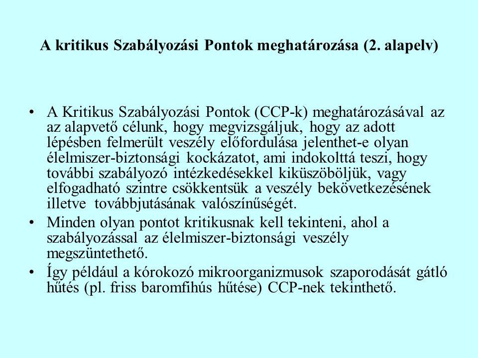 A kritikus Szabályozási Pontok meghatározása (2. alapelv)