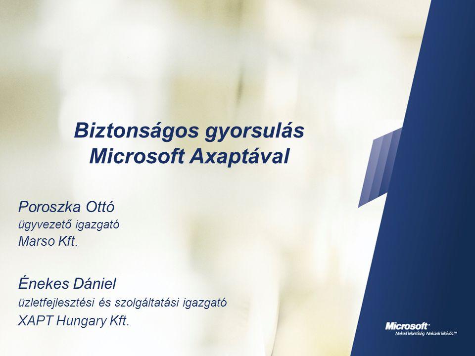 Biztonságos gyorsulás Microsoft Axaptával