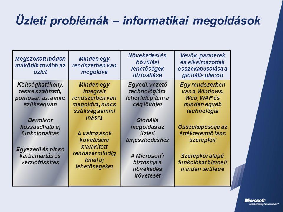 Üzleti problémák – informatikai megoldások