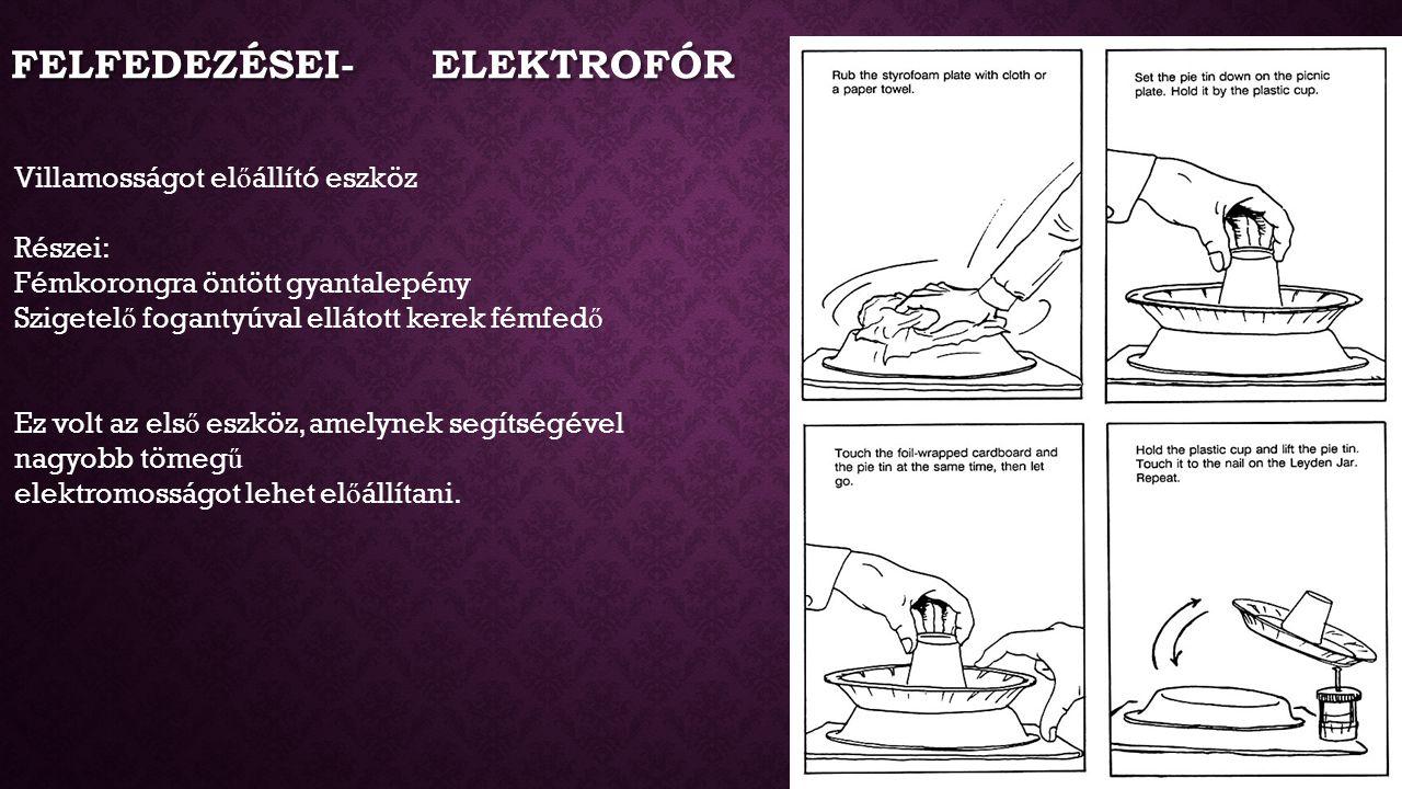 Felfedezései- Elektrofór