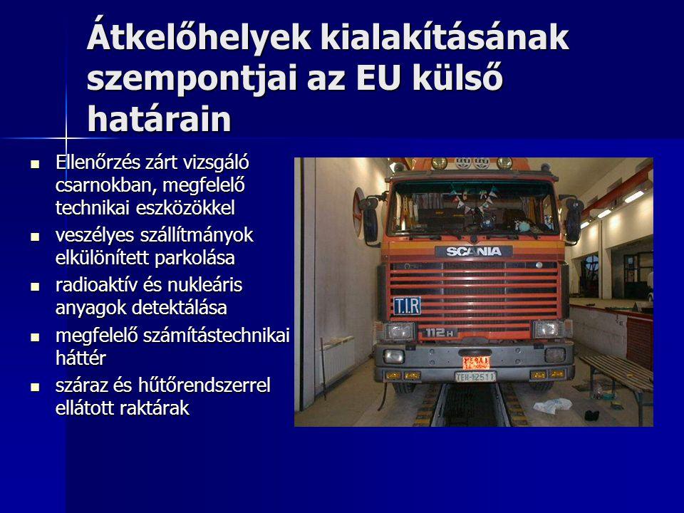 Átkelőhelyek kialakításának szempontjai az EU külső határain