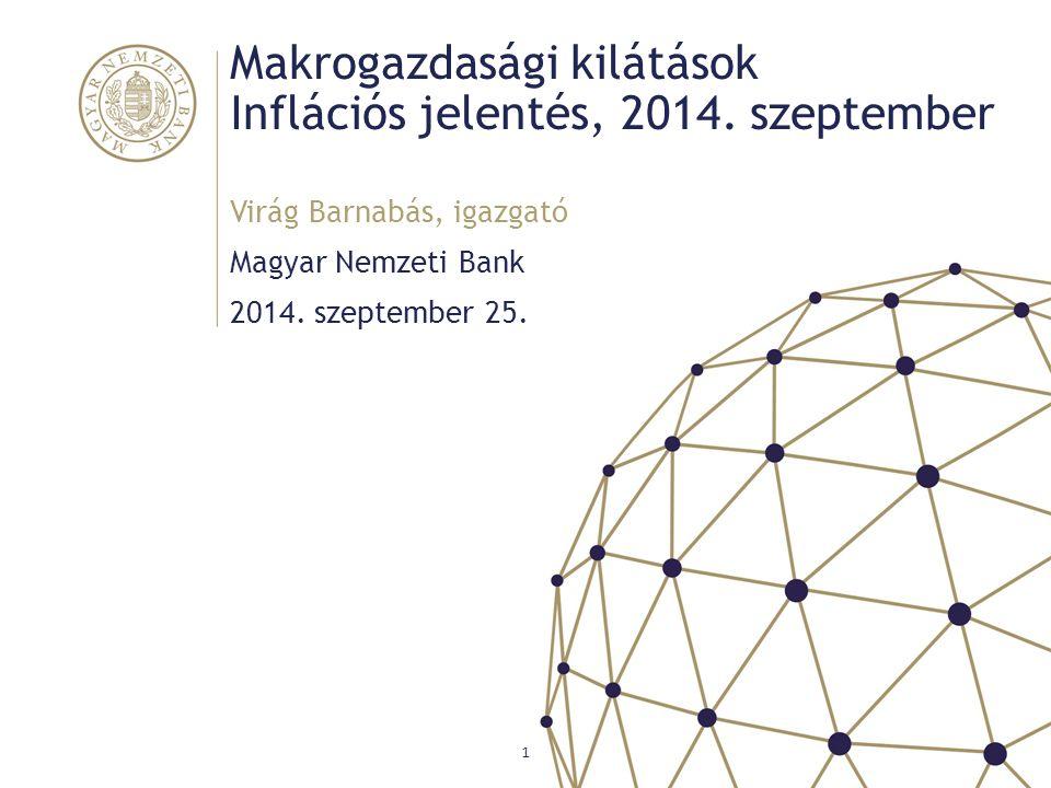 Makrogazdasági kilátások Inflációs jelentés, 2014. szeptember
