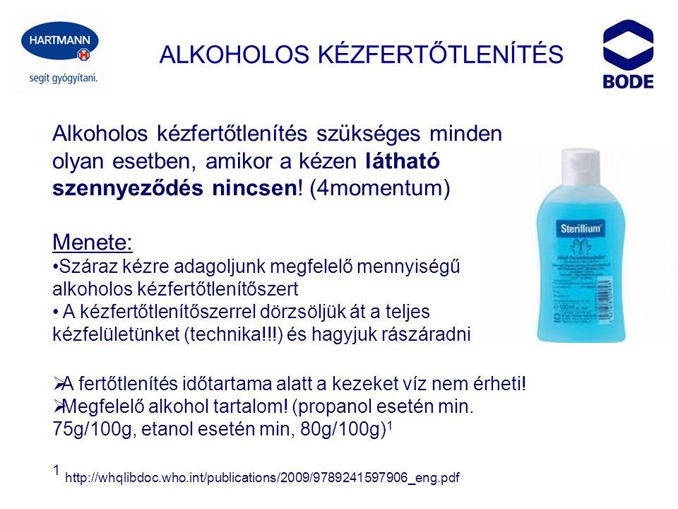 ALKOHOLOS KÉZFERTŐTLENÍTÉS