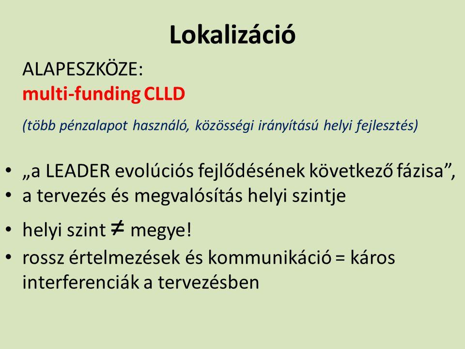 Lokalizáció ALAPESZKÖZE: multi-funding CLLD