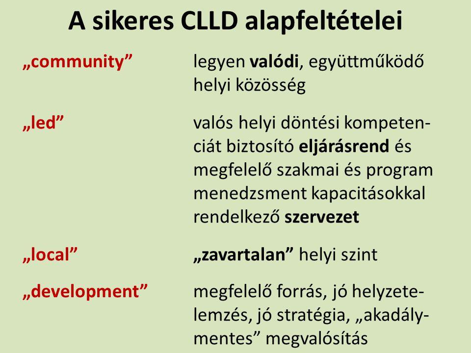 A sikeres CLLD alapfeltételei