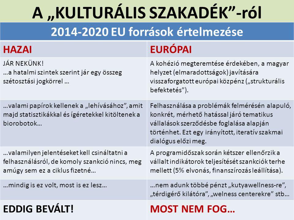 """A """"KULTURÁLIS SZAKADÉK -ról"""