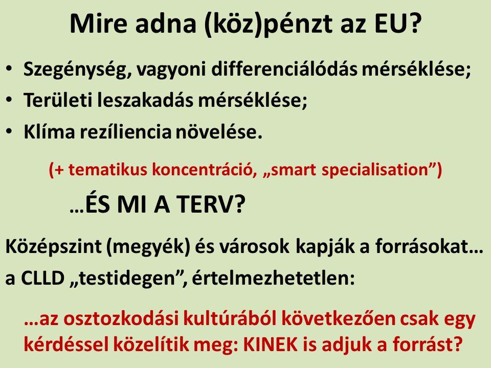 Mire adna (köz)pénzt az EU