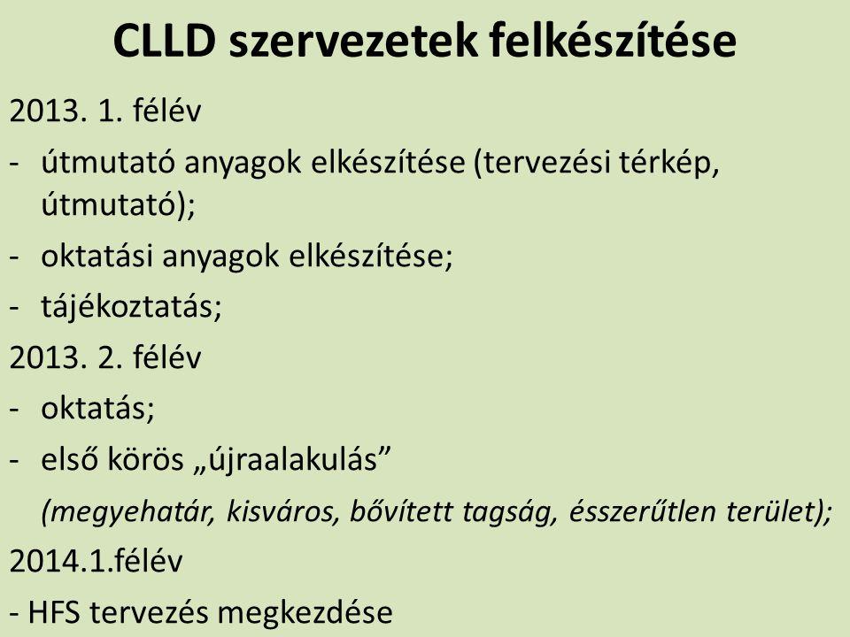 CLLD szervezetek felkészítése