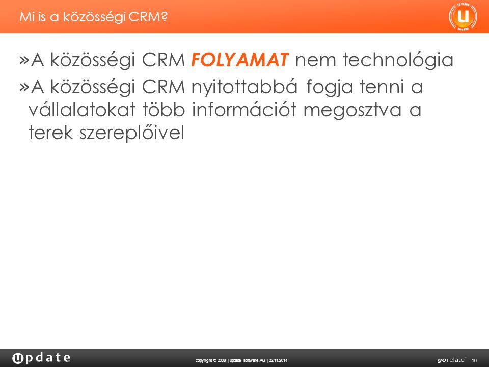 A közösségi CRM FOLYAMAT nem technológia