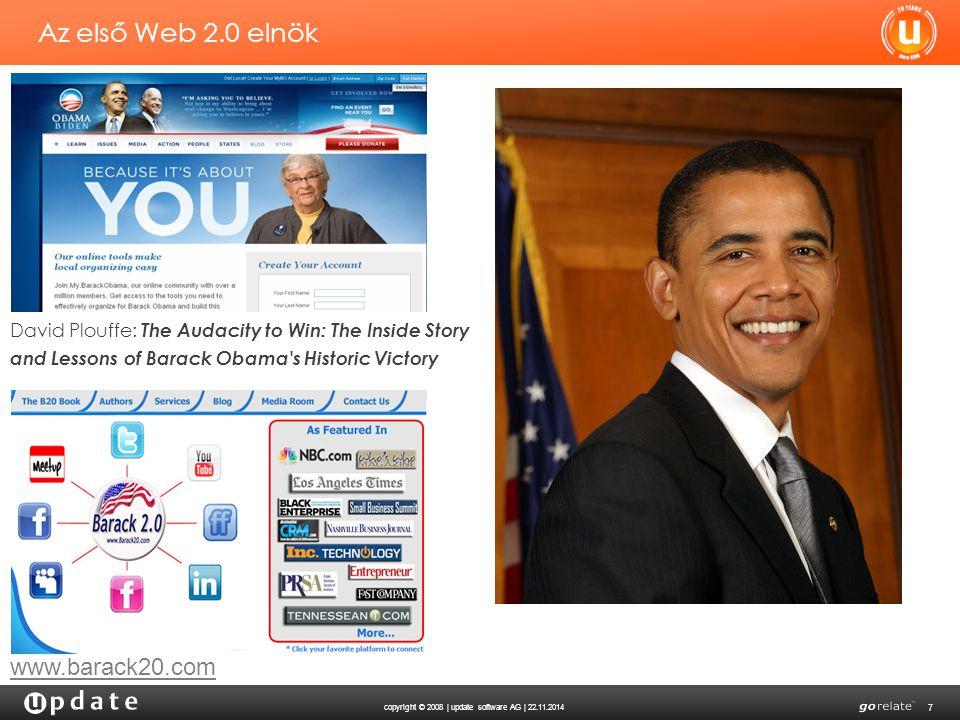 Az első Web 2.0 elnök www.barack20.com