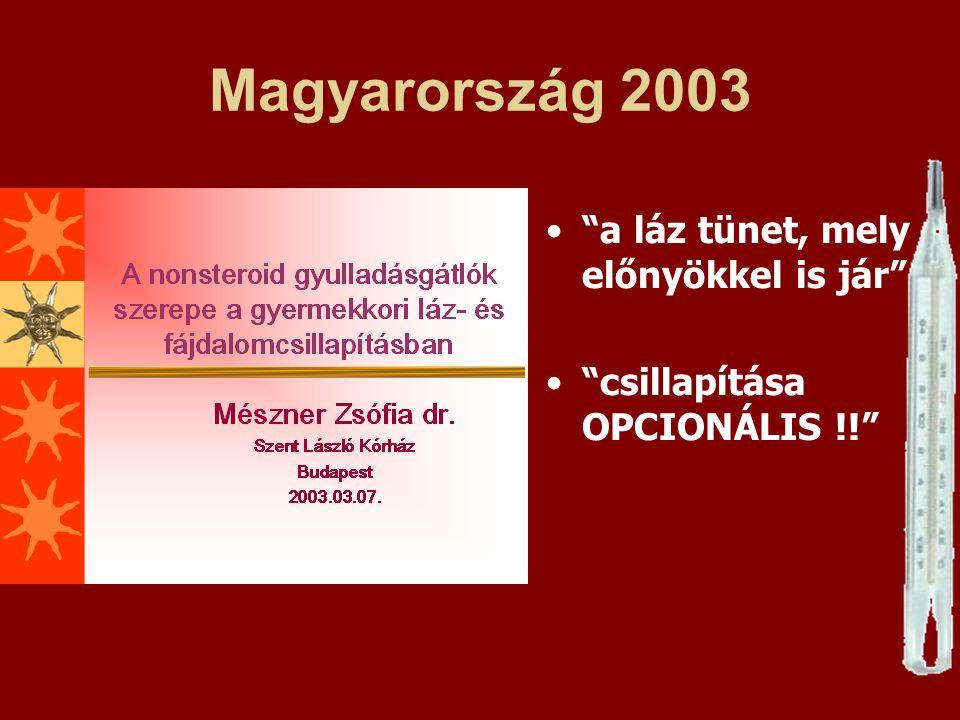 Magyarország 2003 a láz tünet, mely előnyökkel is jár
