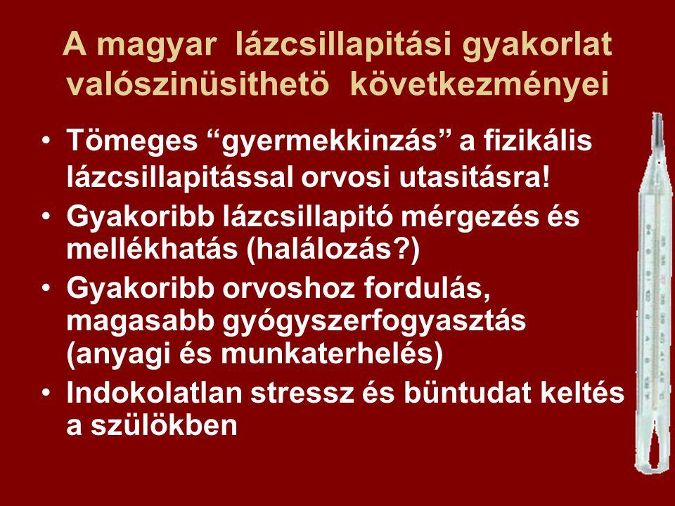 A magyar lázcsillapitási gyakorlat valószinüsithetö következményei