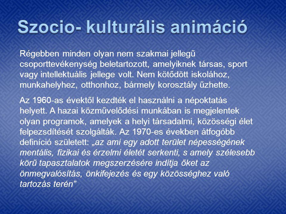 Szocio- kulturális animáció