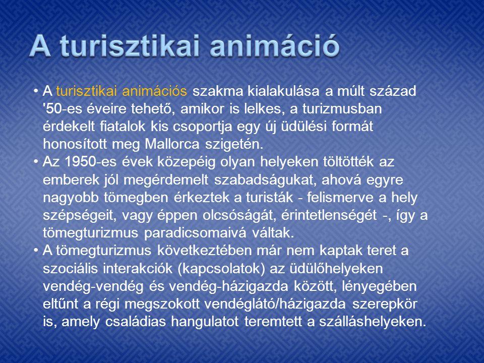 A turisztikai animáció