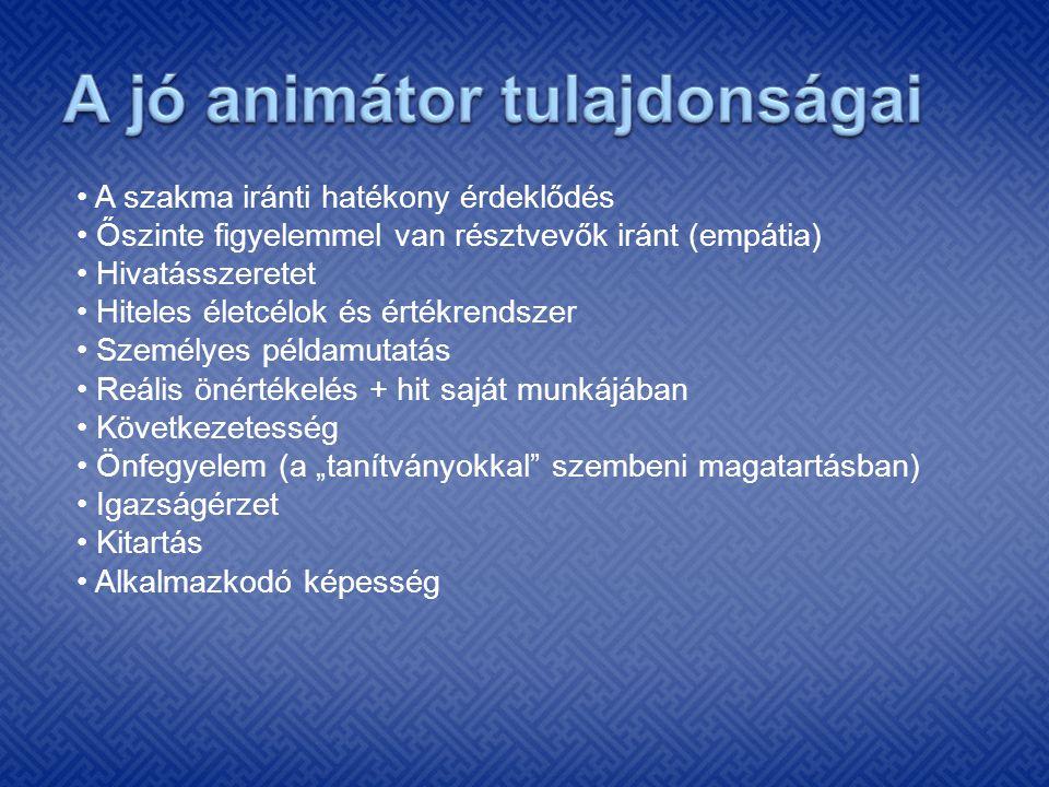 A jó animátor tulajdonságai