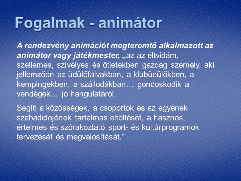 Fogalmak - animátor