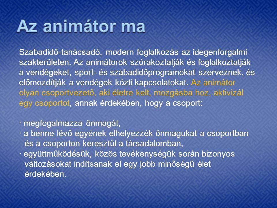 Az animátor ma