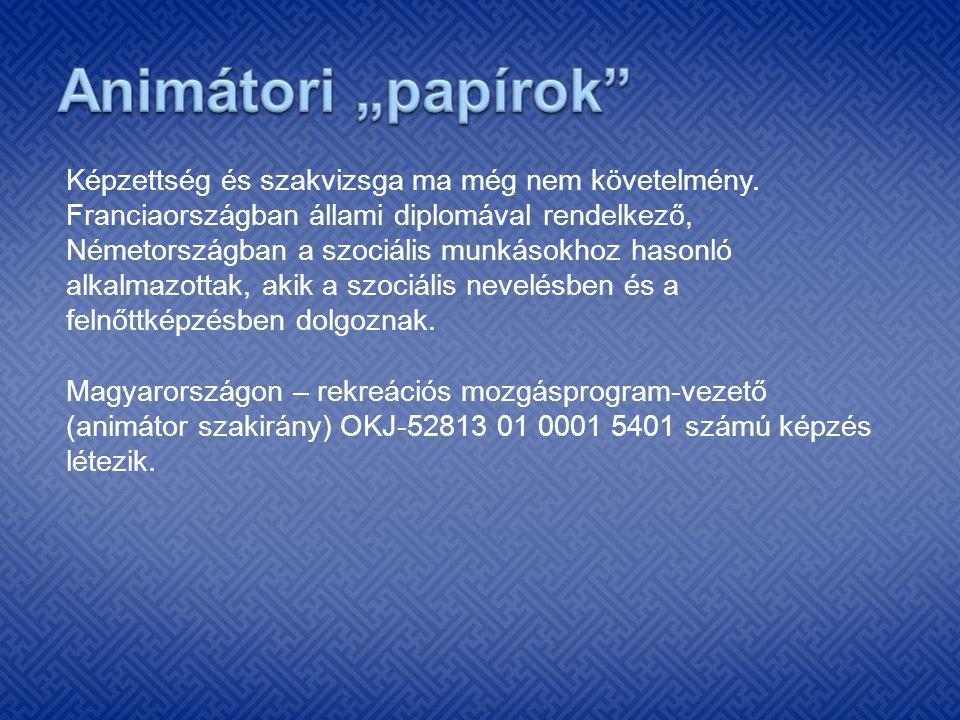 """Animátori """"papírok"""