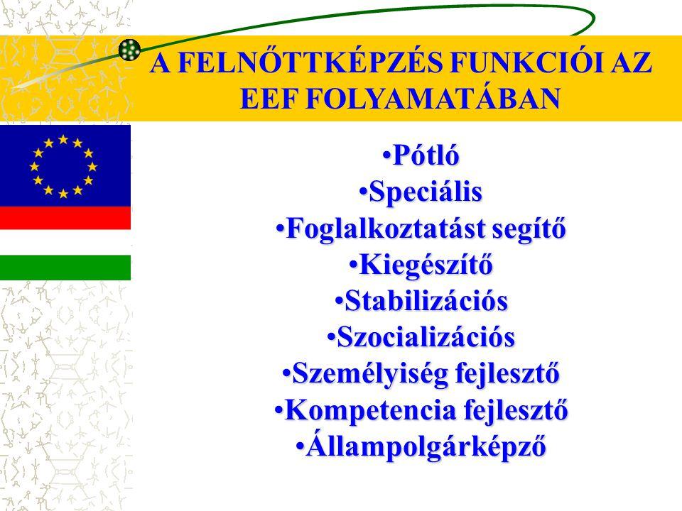 A FELNŐTTKÉPZÉS FUNKCIÓI AZ EEF FOLYAMATÁBAN