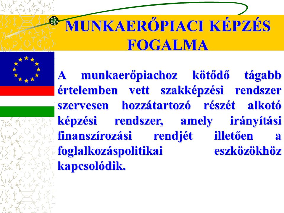MUNKAERŐPIACI KÉPZÉS FOGALMA