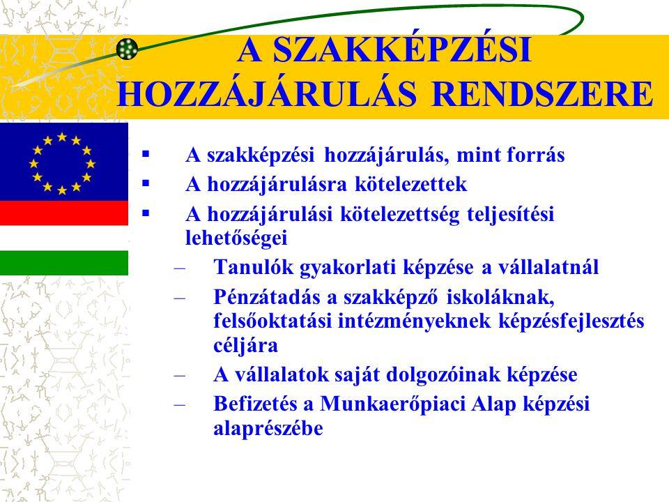 A SZAKKÉPZÉSI HOZZÁJÁRULÁS RENDSZERE